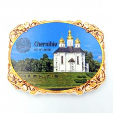 Керамические магнитики Въезд в Чернигов овал винтажный