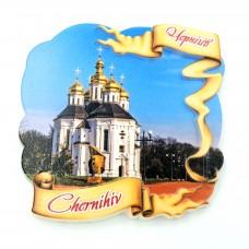 Керамические магнитики Чернигов Екатерининская церковь лента №2