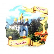 Керамические магнитики Чернигов Екатерининская церковь лента