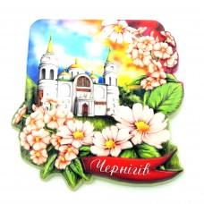 Керамические магниты. Чернигов. Собор и цветы