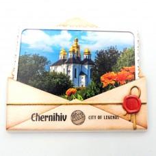 Керамічні магніти Чернігів Катерининська церква конверт