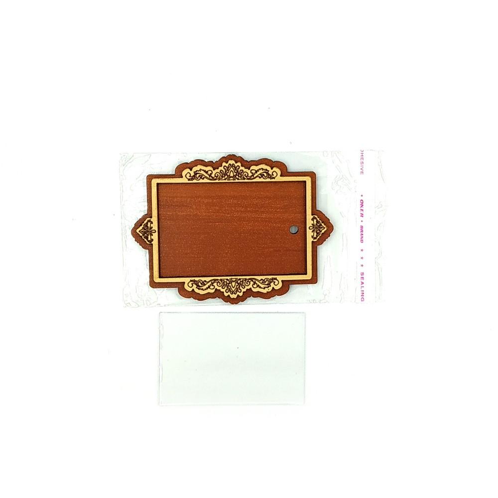 Деревянно-акриловая заготовка для магнитов №15