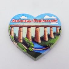 Керамический мини манитик Каменец-Подольский мост - сердце