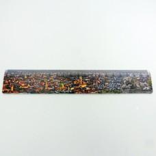 Канцелярська лінійка 20 см з пластику пам'ятки Львова
