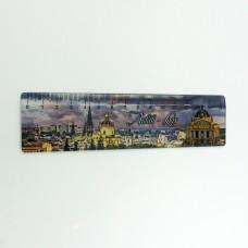 Сувенірна лінійка 15 см широка пластикова Львова