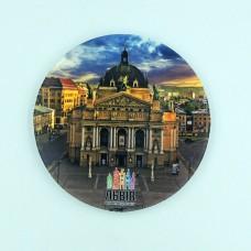 Сувенирная тарелка 85 мм Львов Оперный театр