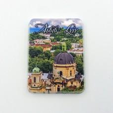 Керамический магнит мини Львов Доминиканский собор