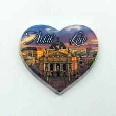 Керамический магнит мини сердце Львовская опера