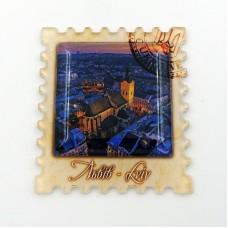Магнит обратной печати с линзой Львовская Ратуша