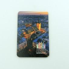 Деревянный магнит Львовская Ратуша
