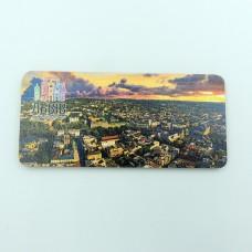 Деревянный магнит панорама город Льва