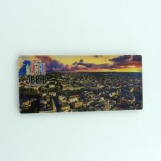 Деревянный магнит панорама Львов