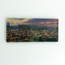 Магнит обратной печати панорама город Льва