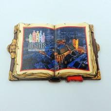 Керамический магнит книга Львовская Ратуша