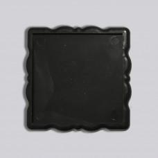 Акрилова заготовка квадрат Фігурна рамка 65*65 мм (чорна)