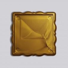 Акрилова заготовка квадрат Фігурна рамка 65*65 мм (золотиста)