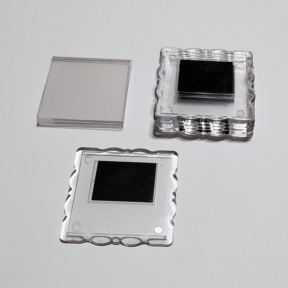 Акрилова заготовка квадрат Фігурна рамка 65*65 мм (прозора)