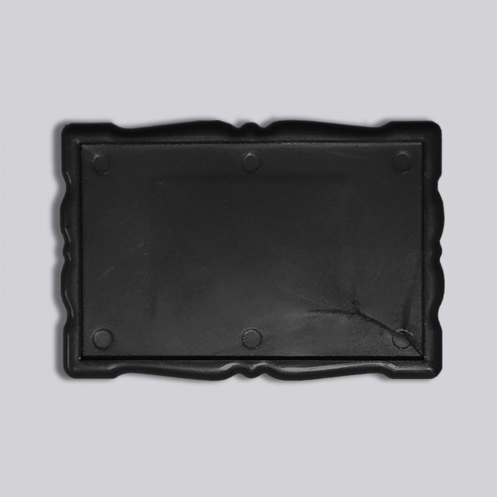 Прямоугольный акриловый магнитик Фигурная рамка 78*52 мм (черный)