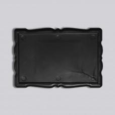 Прямокутний акриловий магнітик Фігурна рамка 78*52 мм (чорний)