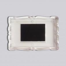 Прямокутний акриловий магнітик Фігурна рамка 78*52 мм (прозорий)