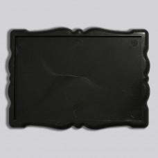 Заготовка для магніта акрилова Фігурна рамка 92*65 мм (чорна)