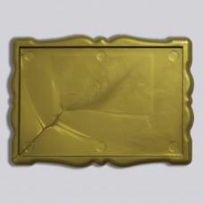Заготовка для магнита акриловая Фигурная рамка 92*65 мм (золотистая)