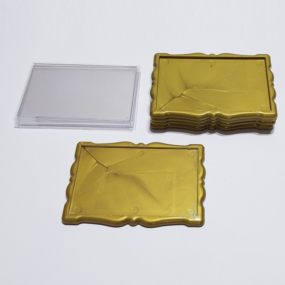 Заготовка для магніта акрилова Фігурна рамка 92*65 мм (золотиста)