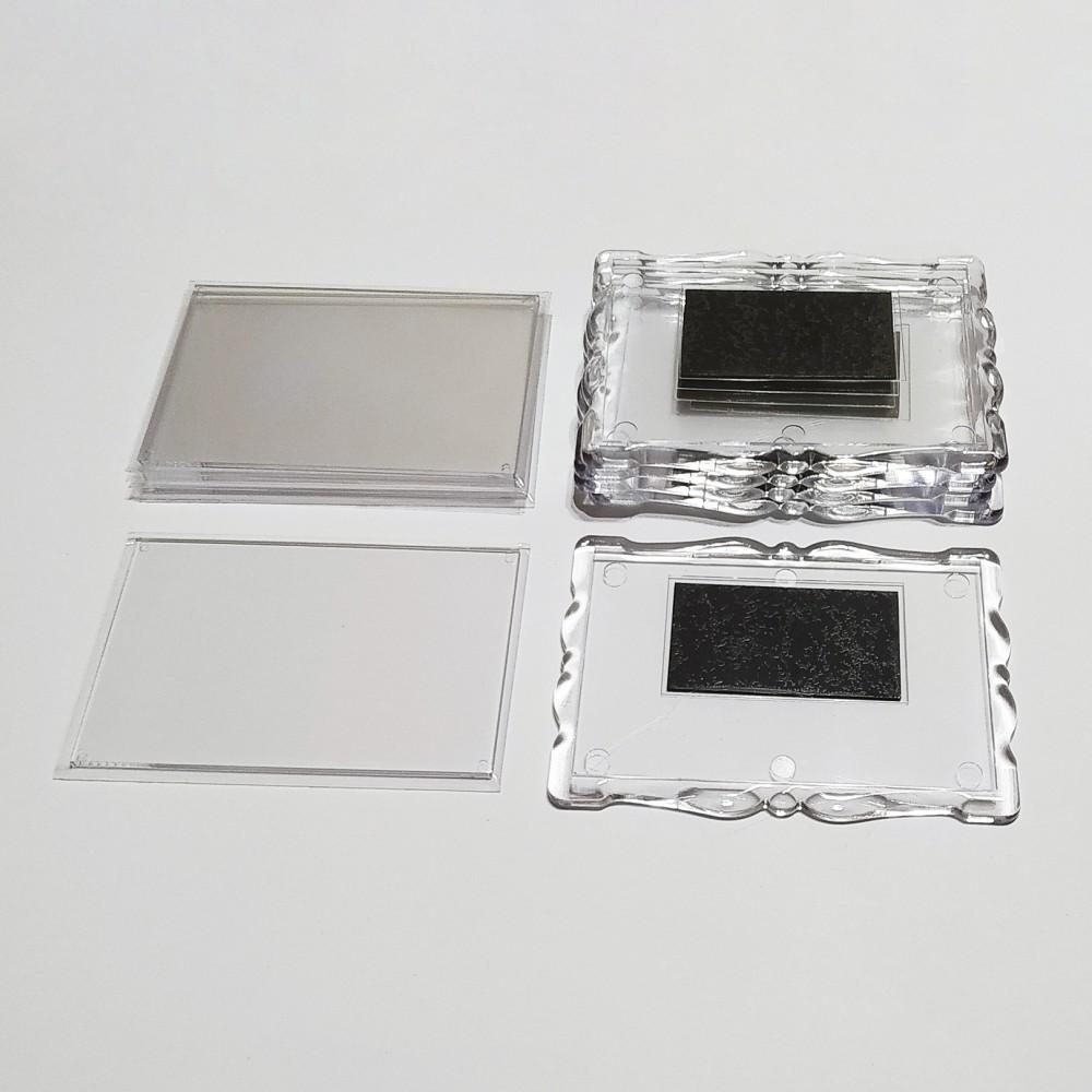 Заготовка для магніта акрилова Фігурна рамка 92*65 мм (прозора)
