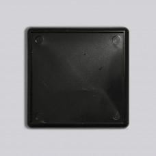 Квадратний акриловий магнітик 65*65 мм (чорний)