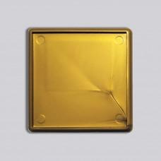 Квадратный акриловый магнитик 65*65 мм (золотистый)