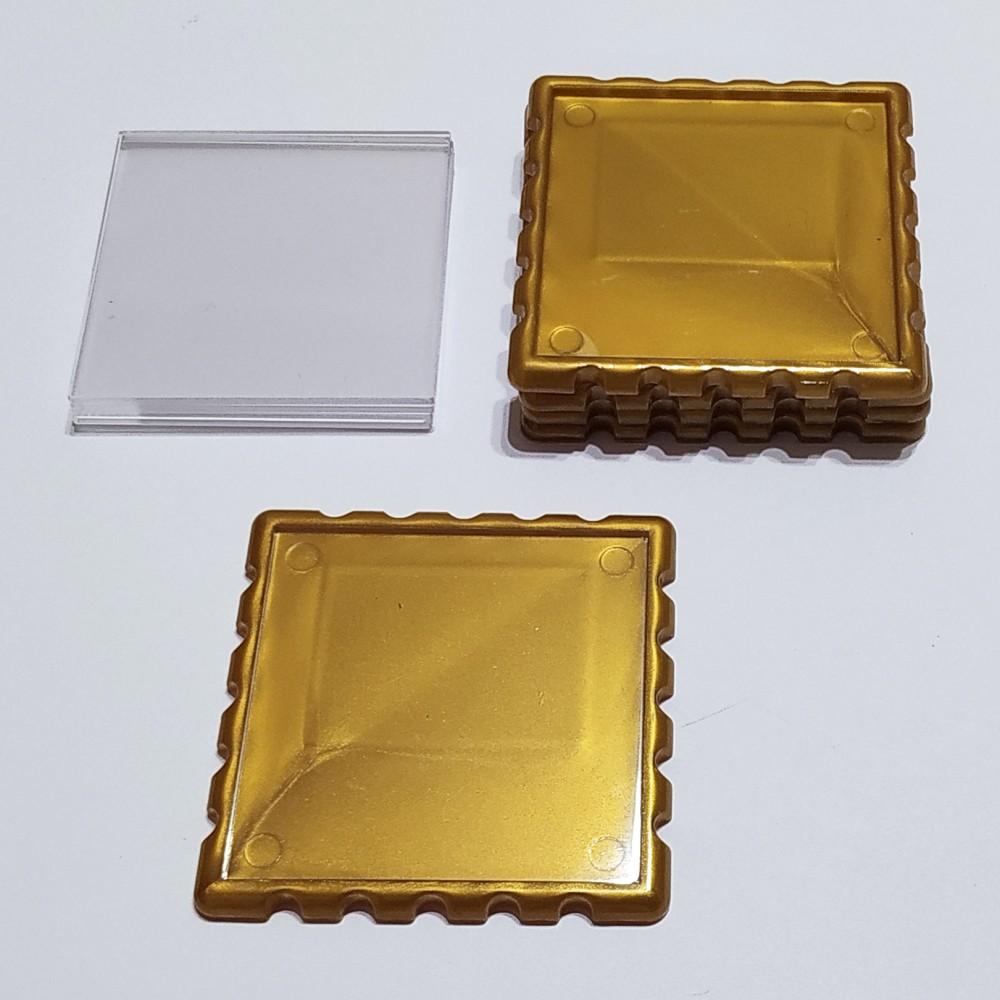 Квадратна акрилова заготовка Марка 65*65 мм (золотистая)
