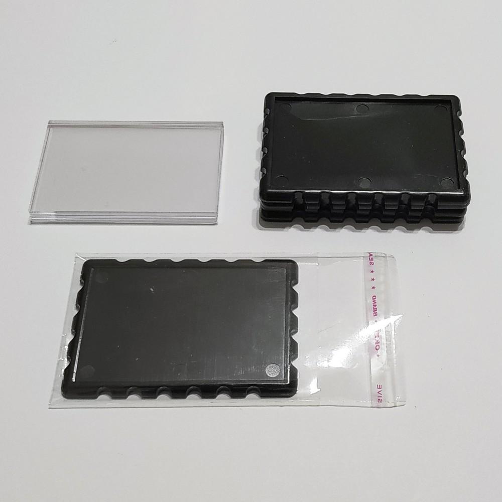 Акриловая заготовка прямоугольная Марка 78*52 мм (черный)