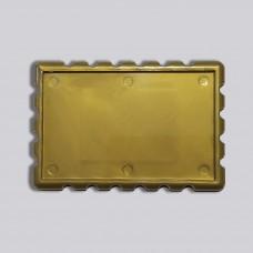 Акрилова заготовка прямокутна Марка 78*52 мм (золотиста)
