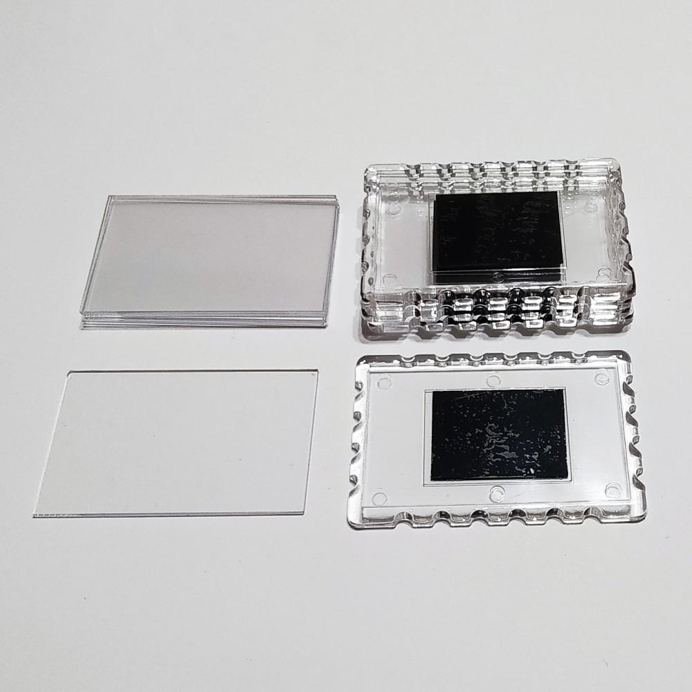 Акриловая заготовка прямоугольная Марка 78*52 мм (прозрачная)