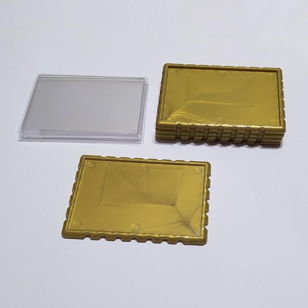 Акриловый магнитик Марка 92*65 мм (золотистая)