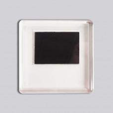 Квадратний акриловий магнітик 65*65 мм (прозорий)