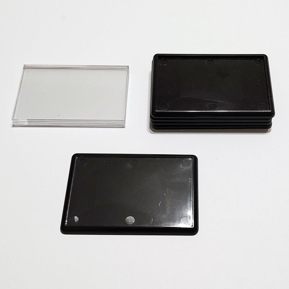 Прямоугольный акриловый магнит 78*52 мм (черный)