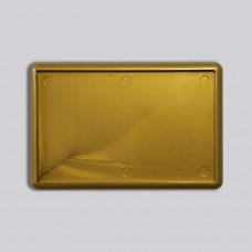 Прямокутний акриловий магніт 78*52 мм (золотистий)