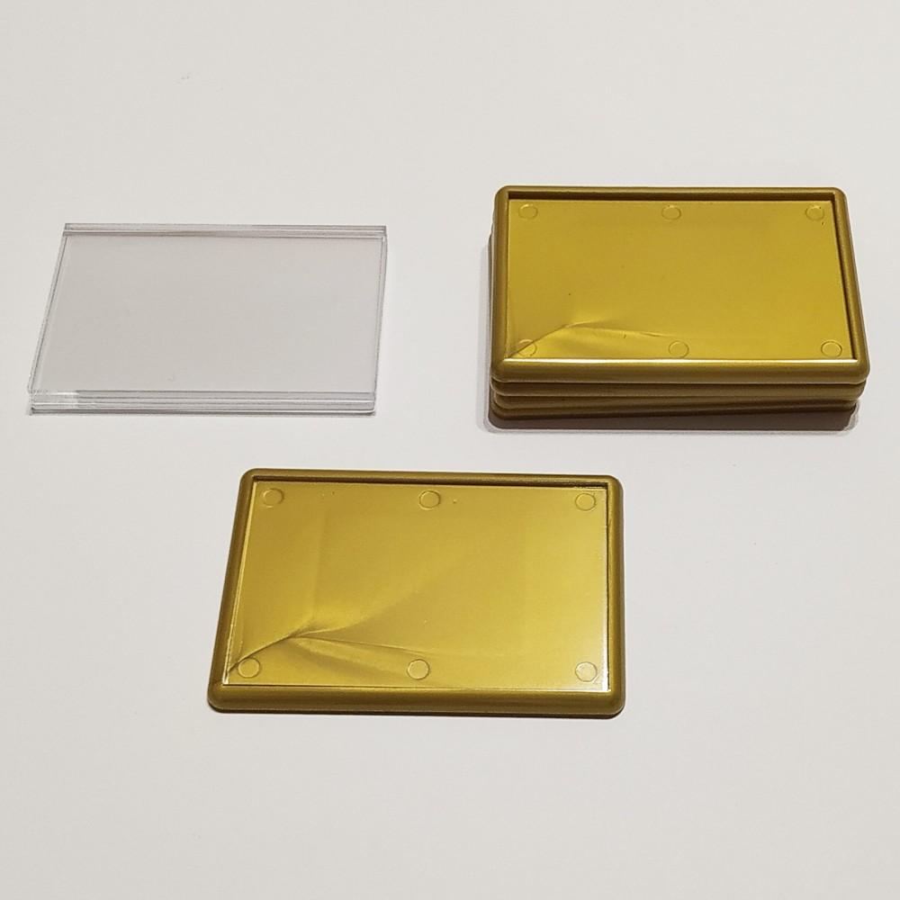 Прямоугольный акриловый магнит 78*52 мм (золотистый)