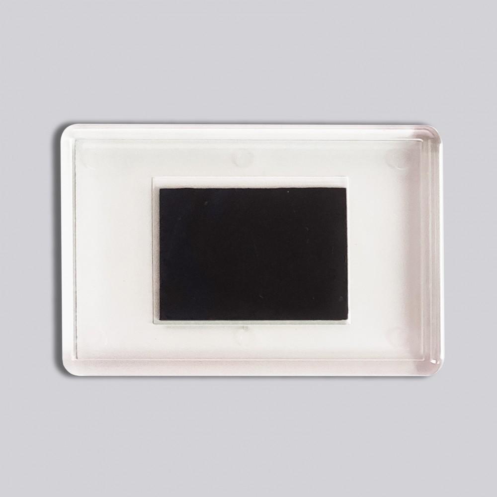 Прямокутний акриловий магніт 78*52 мм (прозорий)
