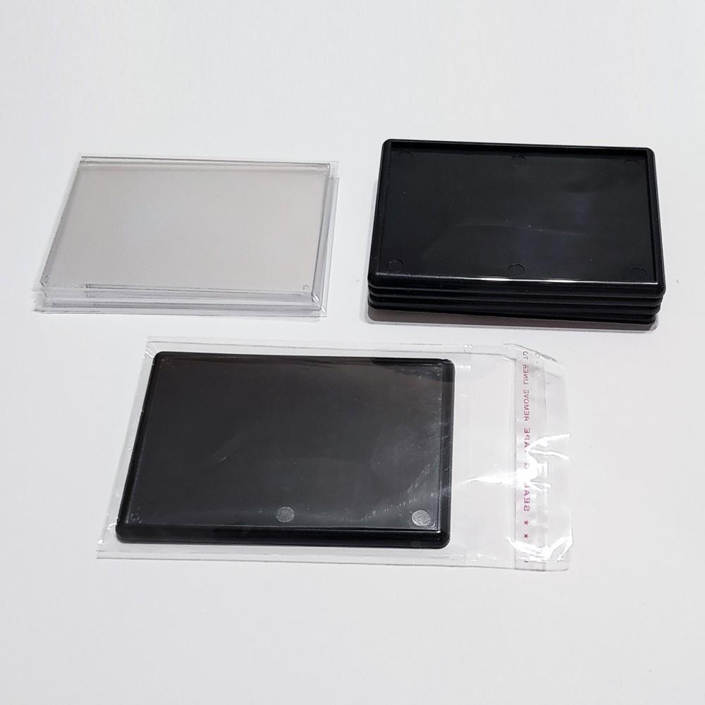 Акриловая заготовка для магнитов 92*65 мм (черная)