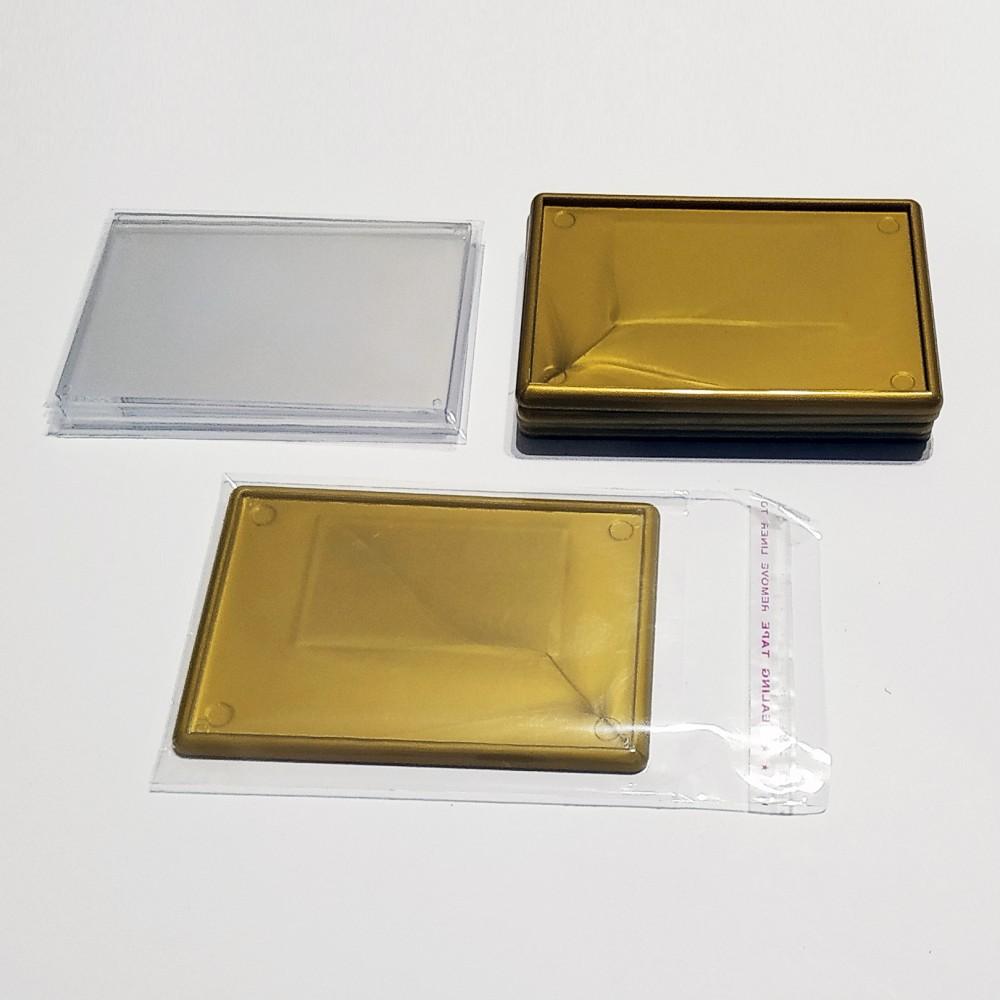 Акрилова заготовка для магнітів 92*65 мм (золотиста)
