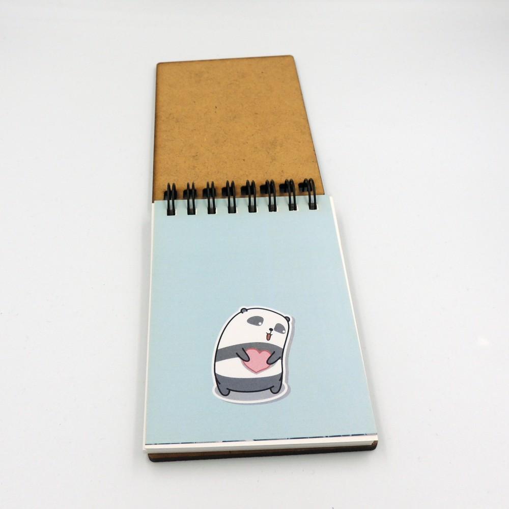Блокнот с деревянной обложкой А7