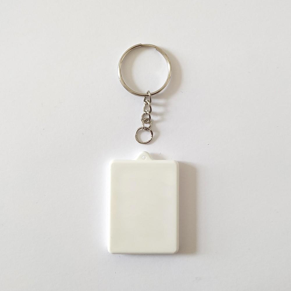 Брелок поликерамический Прямоугольник с цепочкой