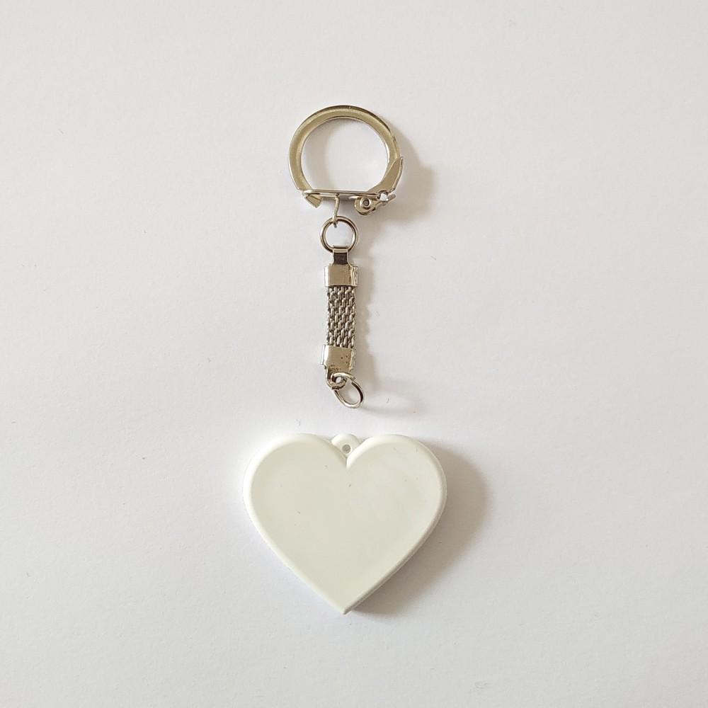 Брелок поликерамический Сердце с кольчужкой