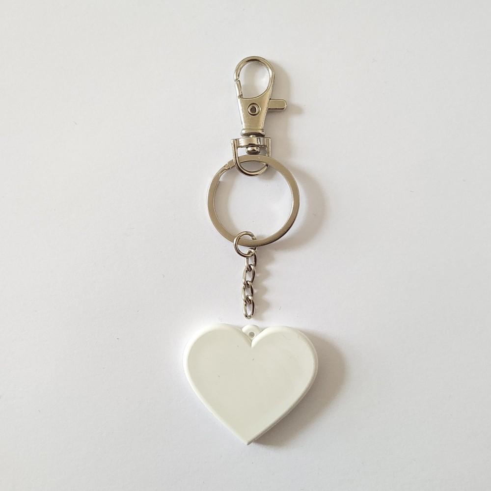 Брелок полікерамічний Серце з карабіном