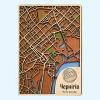 Деревянные карты городов