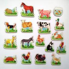 Магниты для маленьких детей с животными и птицами