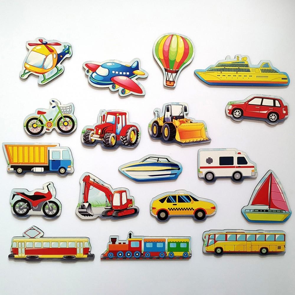 Розвиваючі магніти для дітей Транспорт