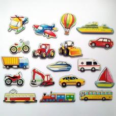 Развивающие магниты для детей Транспорт